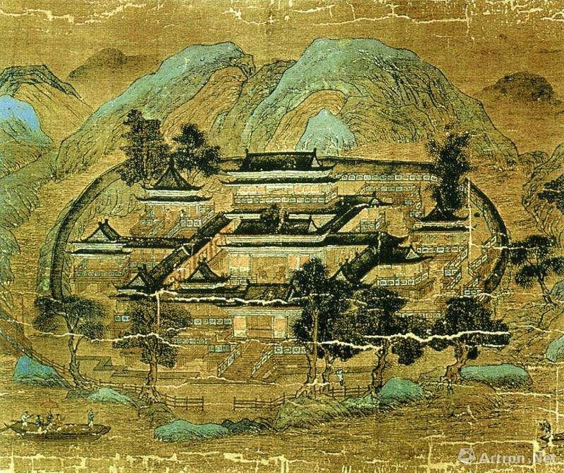 王维《辋川图》局部