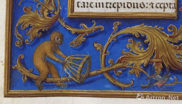 """""""捕鸟的猴"""",现藏大英图书馆"""