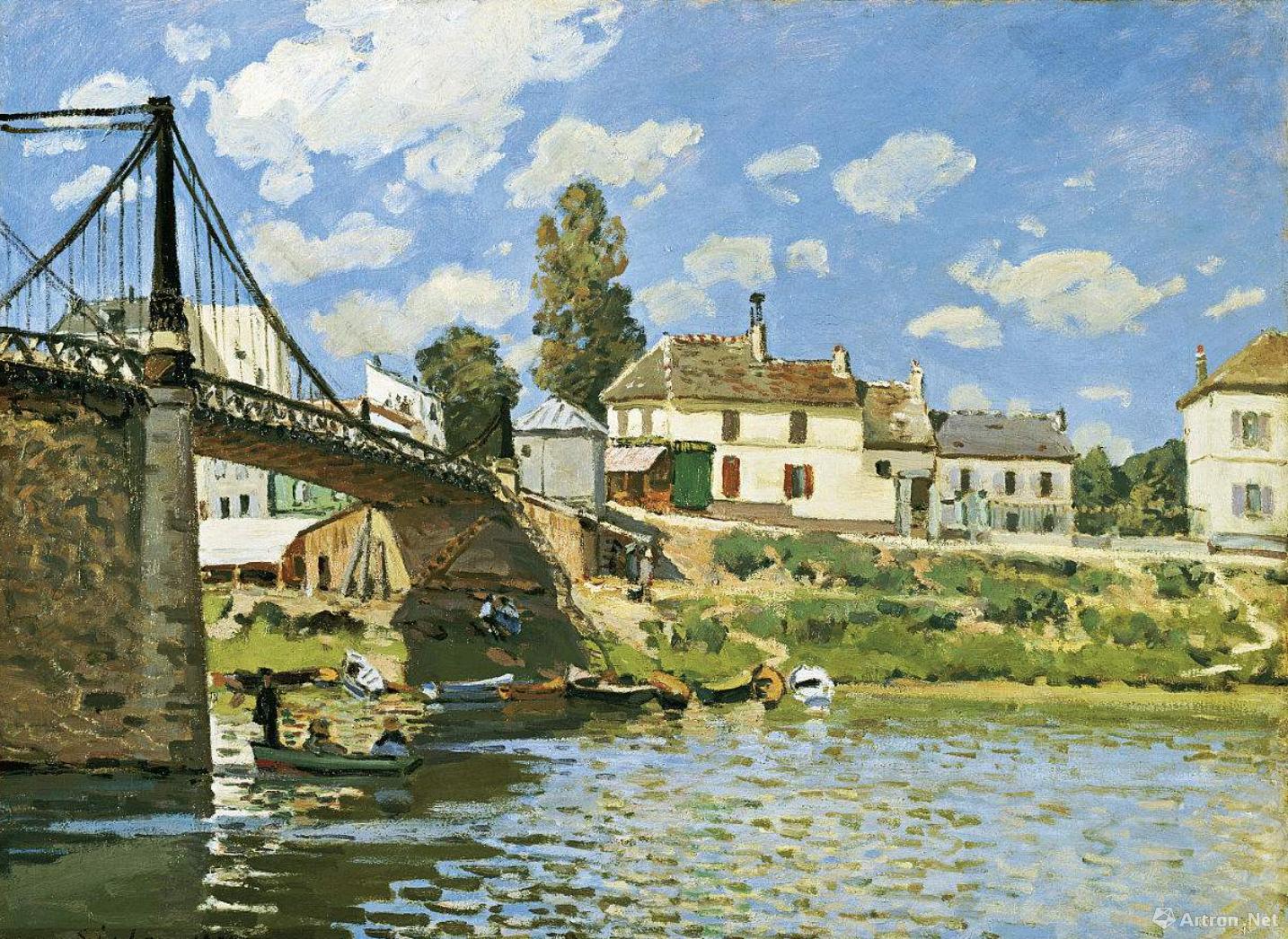 西斯莱《哥伦维伦纽夫之桥》