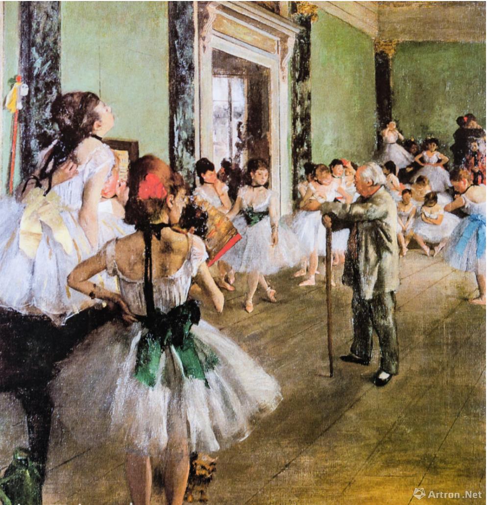 德加《舞蹈课》