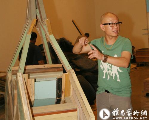 万物:刘韡个展 布展现场