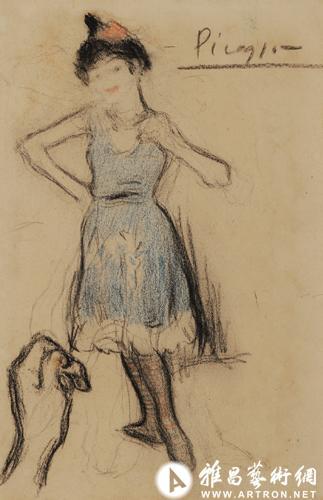 毕加索色粉原作《舞女》亮相 洛可可作品精致怡人