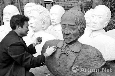 乡村教师玩艺术:废弃物变雕塑