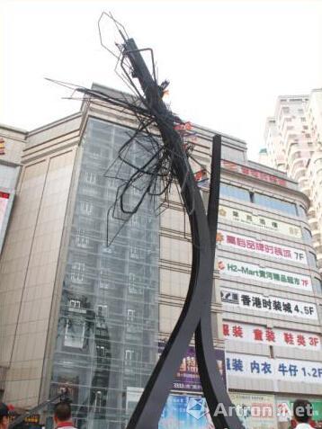 艺术家阿纳·奎兹30米公共艺术作品在东莞落成(图)