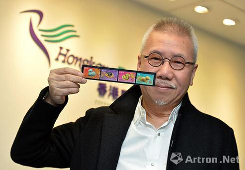 香港发售靳埭强设计的邮政羊年贺岁邮票