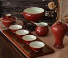 景德镇祭红釉茶具