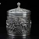 银浮雕盖罐